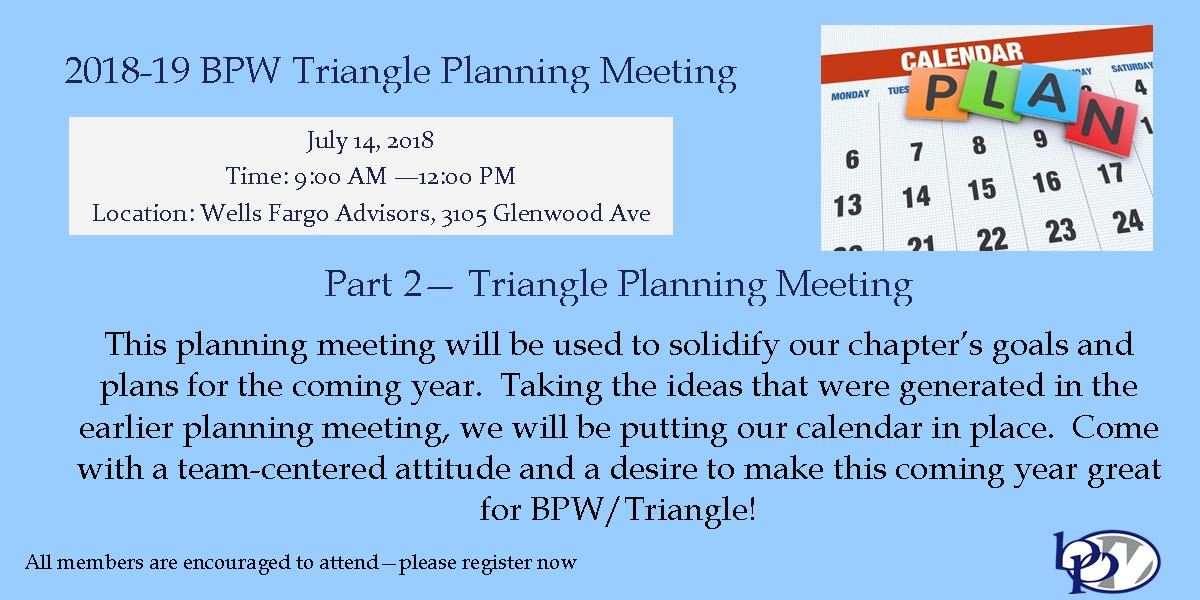 Bpw Triangle 2018 19 Bpw Triangle Planning Meeting Part 2